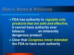 fda vs brown williamson32