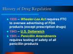 history of drug regulation13