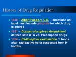 history of drug regulation14