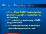 history of drug regulation15