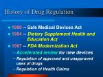 history of drug regulation18