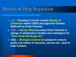 history of drug regulation7