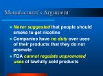 manufacturer s argument