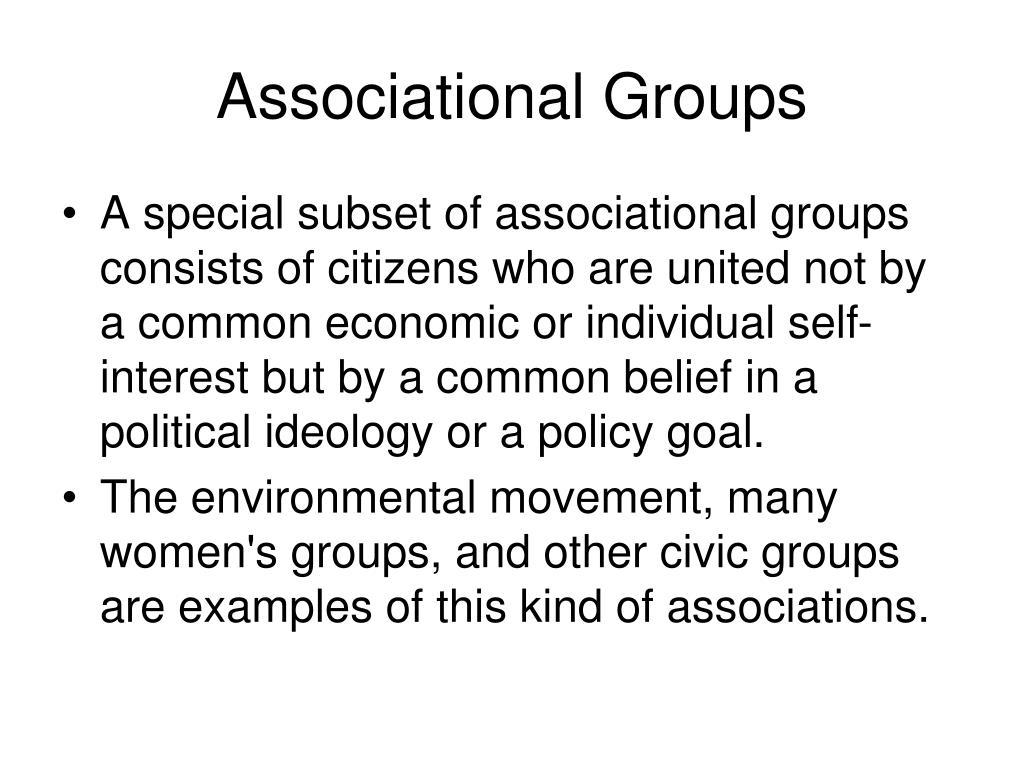 Associational Groups
