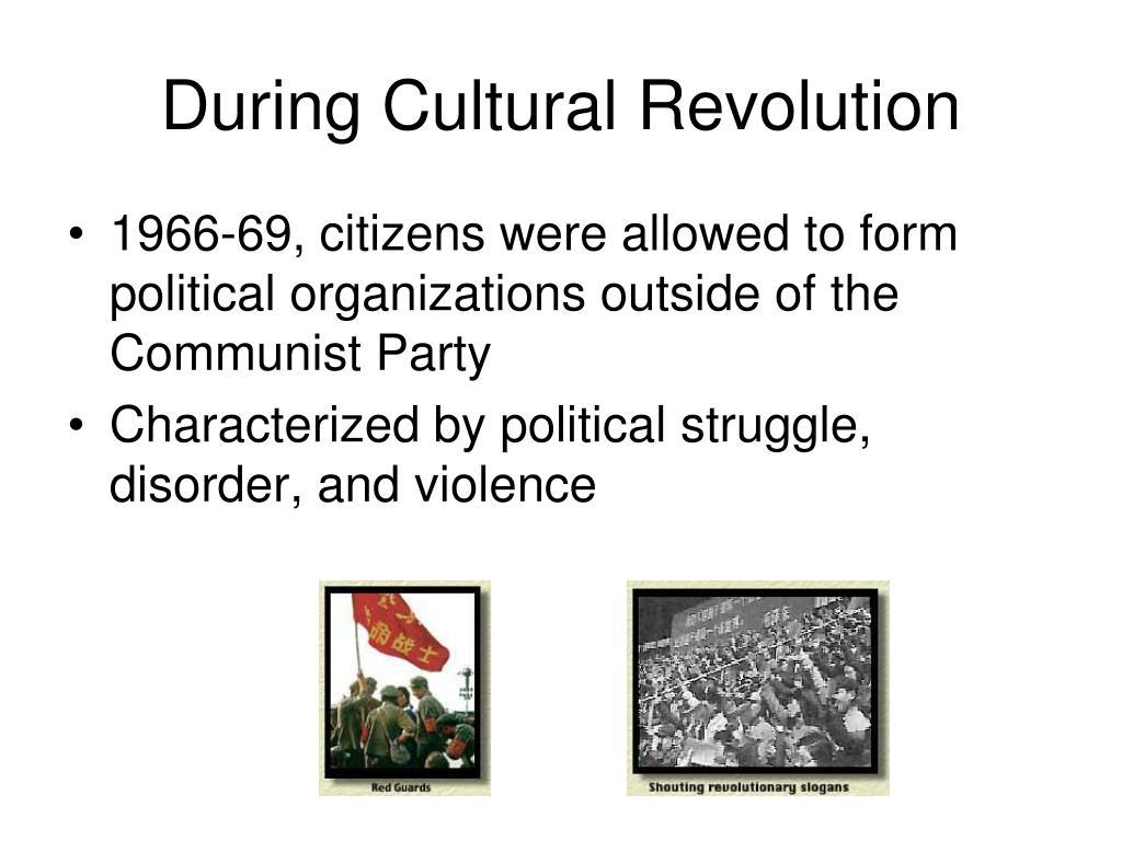 During Cultural Revolution