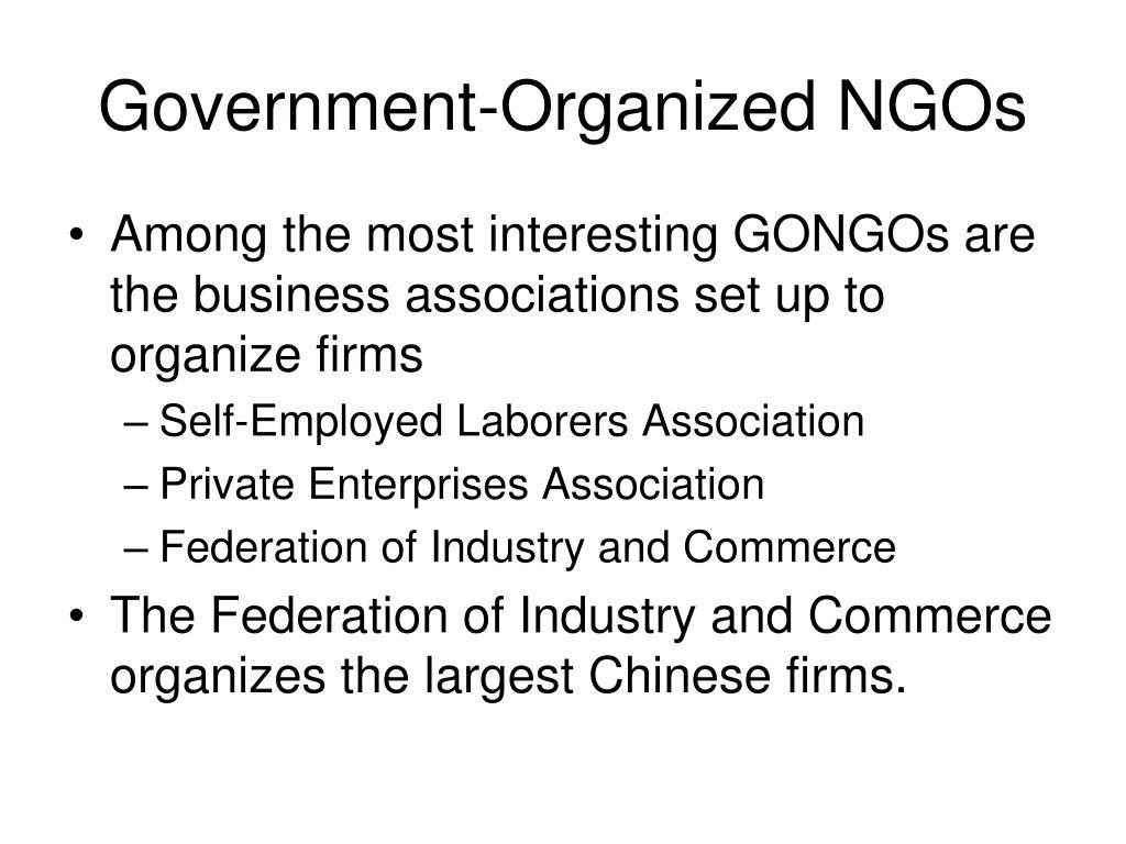 Government-Organized NGOs