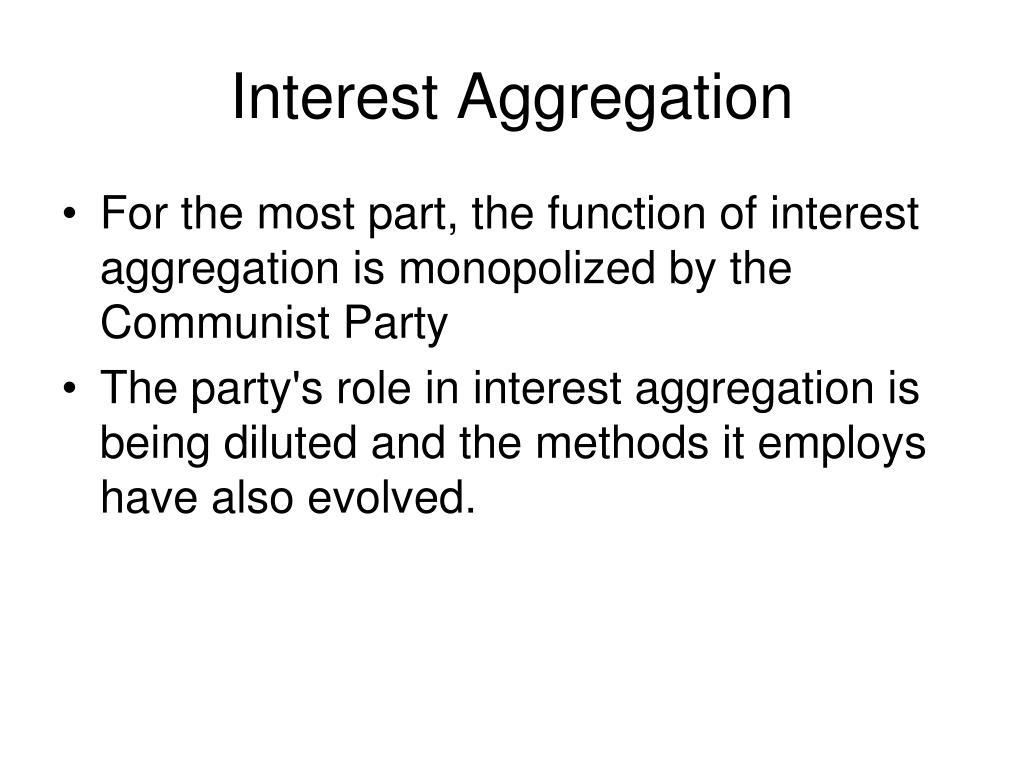 Interest Aggregation