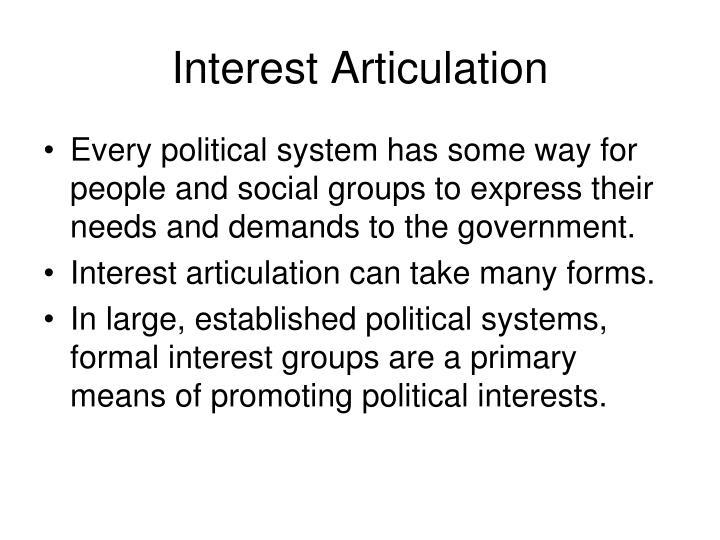 Interest articulation
