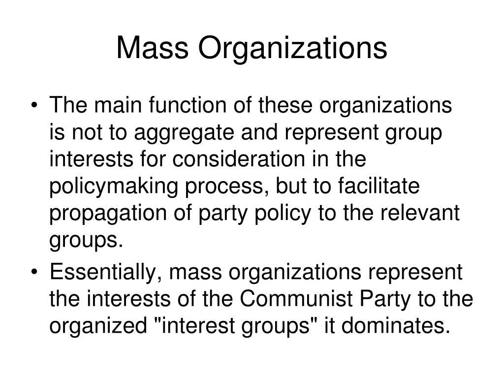 Mass Organizations
