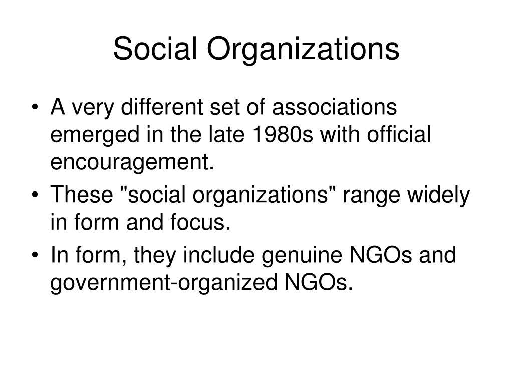 Social Organizations