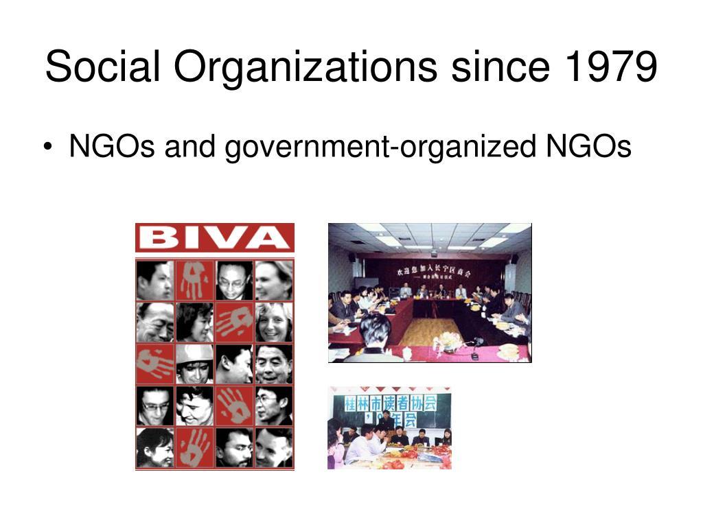 Social Organizations since 1979