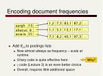 encoding document frequencies