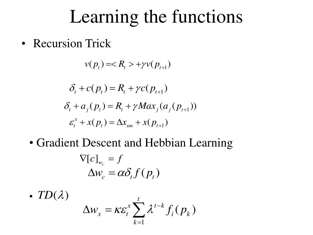 Learning the functions