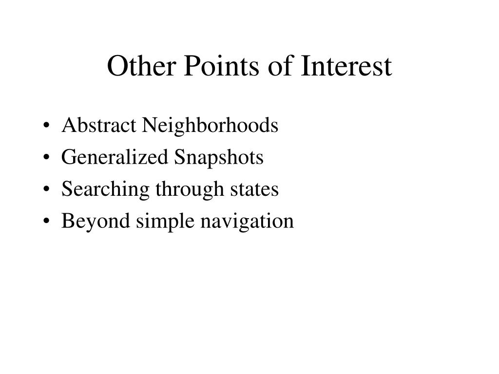Other Points of Interest
