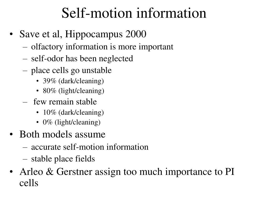 Self-motion information