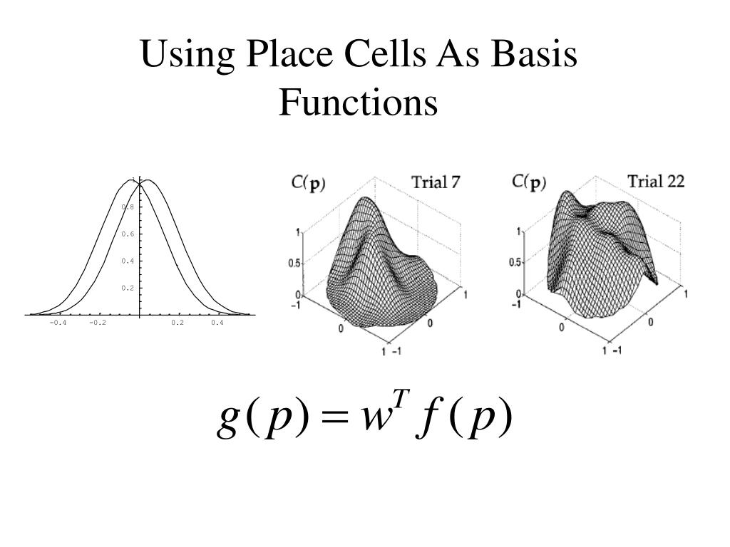 Using Place Cells As Basis Functions