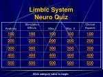 limbic system neuro quiz
