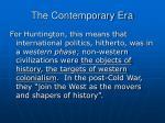 the contemporary era