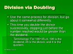 division via doubling