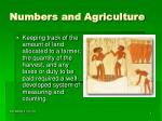 numbers and agriculture