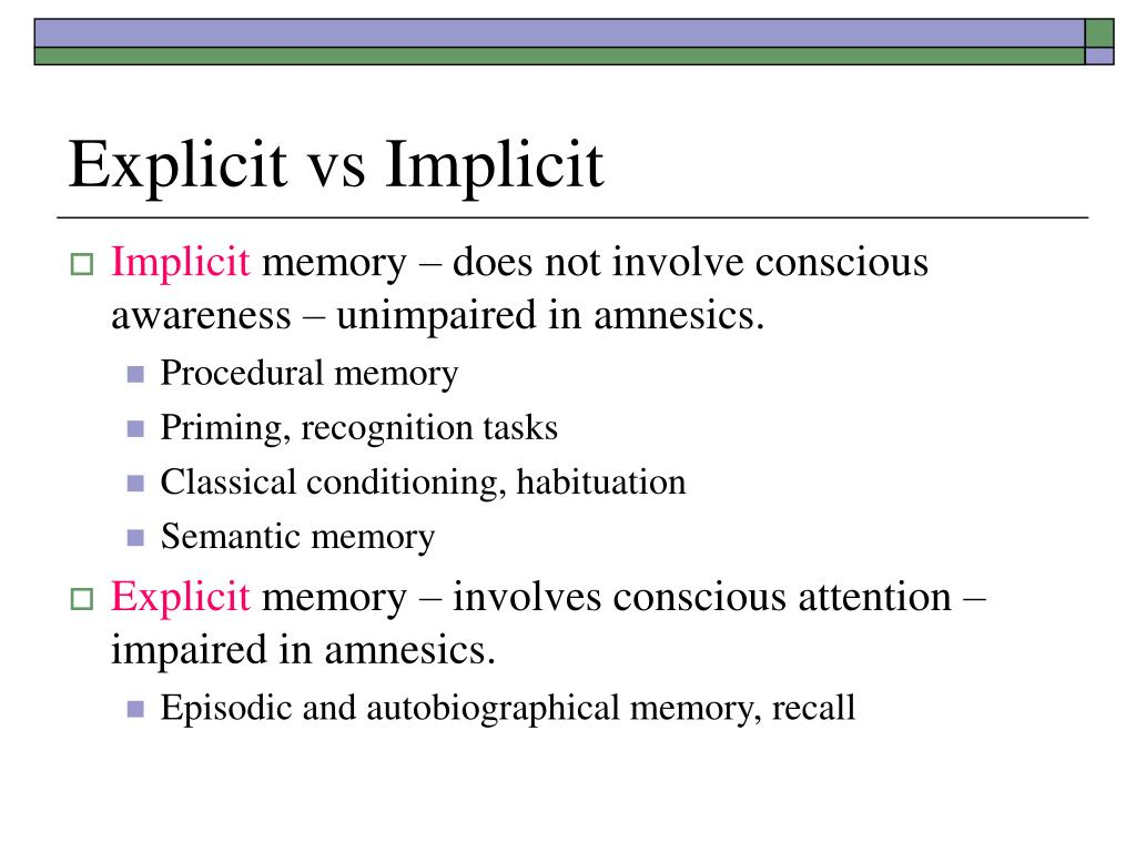 Explicit vs Implicit