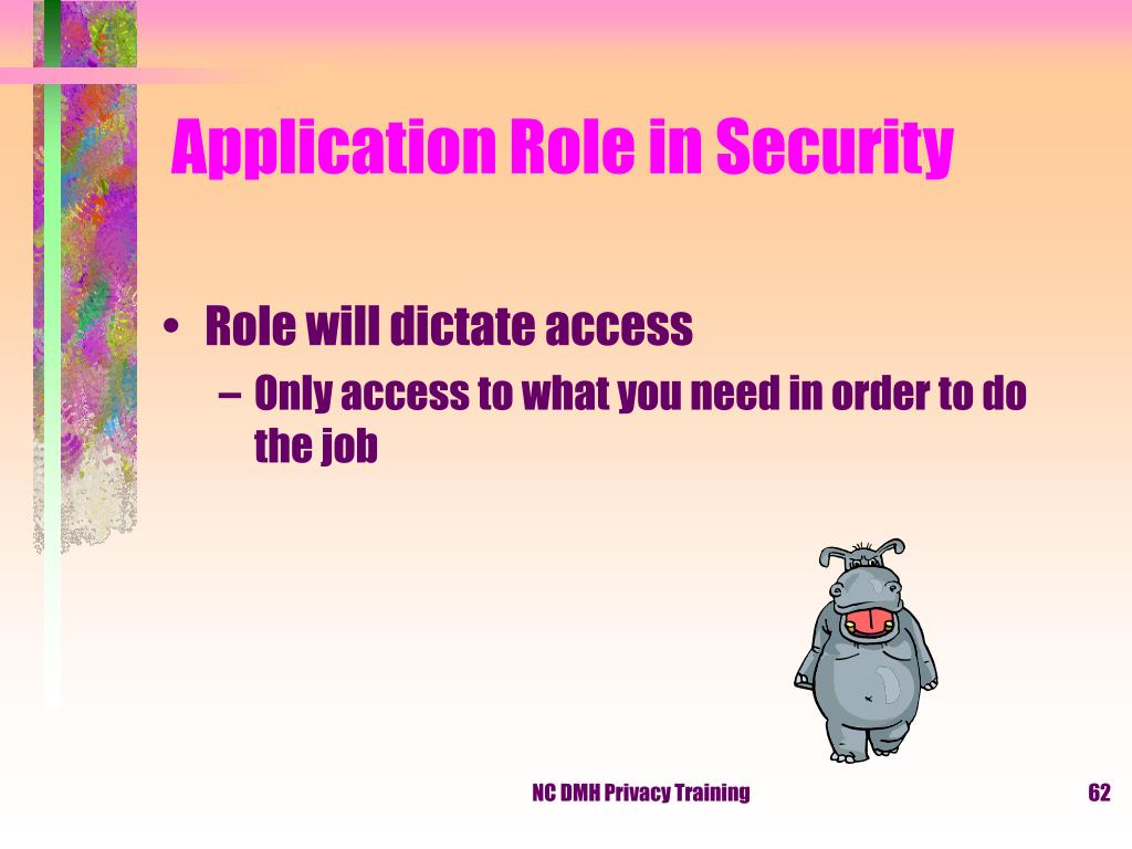 Application Role in Security