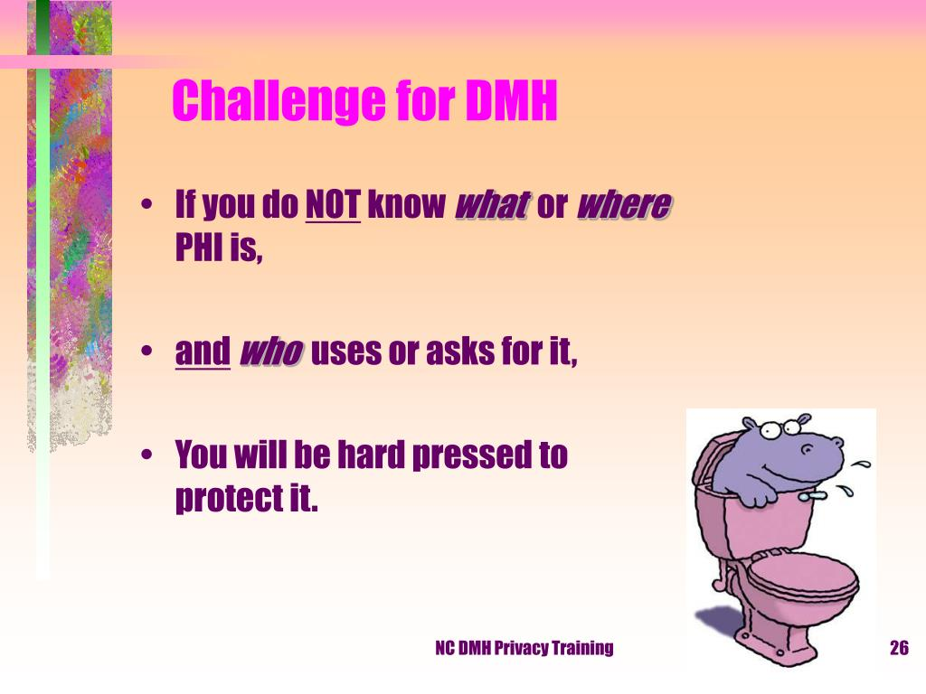Challenge for DMH