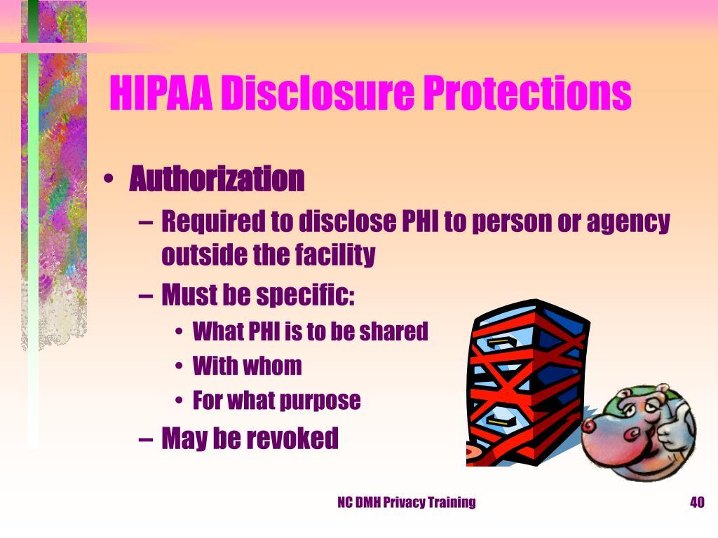 HIPAA Disclosure Protections