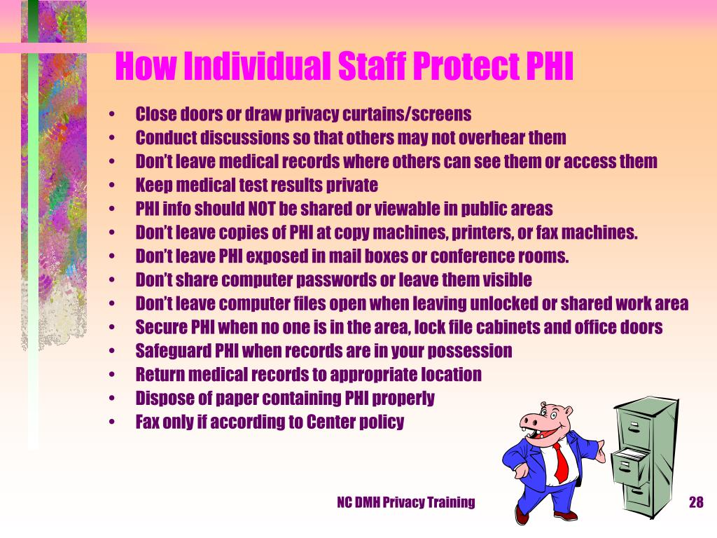 How Individual Staff Protect PHI