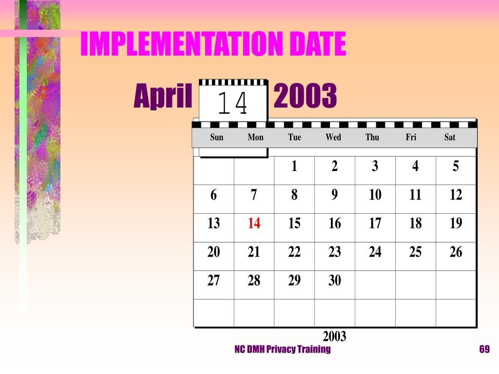 IMPLEMENTATION DATE