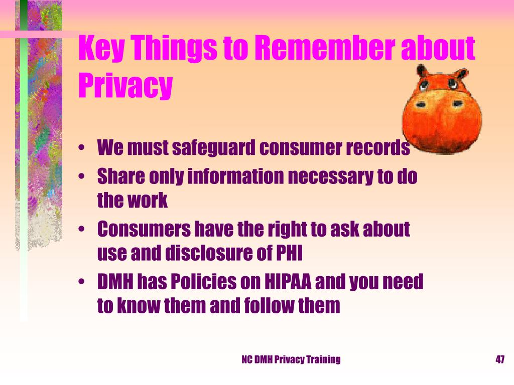Key Things to Remember about Privacy