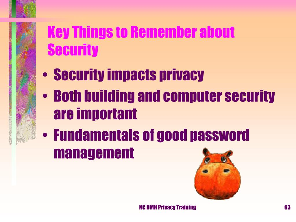 Key Things to Remember about Security
