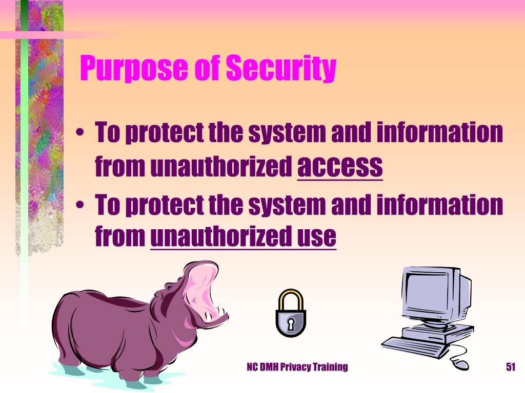 Purpose of Security