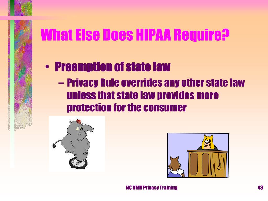 What Else Does HIPAA Require?