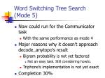 word switching tree search mode 5