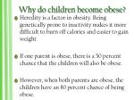 why do children become obese