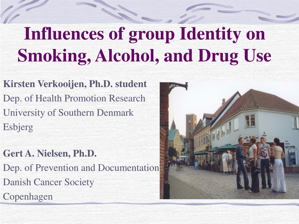 influences of group identity on smoking alcohol and drug use l.