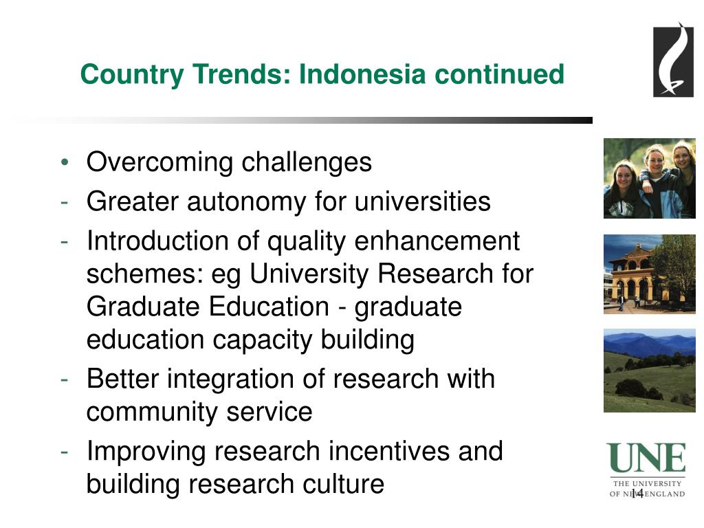 Country Trends: Indonesia continued