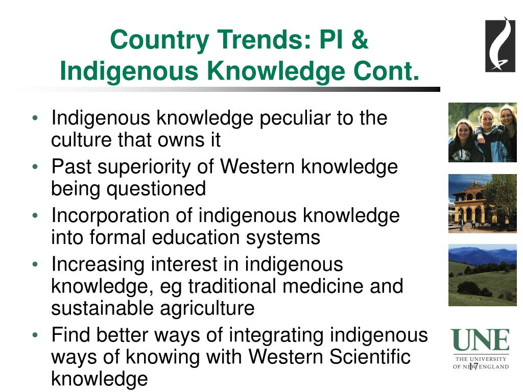 Country Trends: PI & Indigenous Knowledge Cont.
