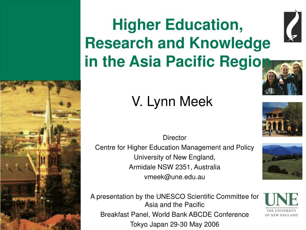 Higher Education, Research and Knowledge in the Asia Pacific Region