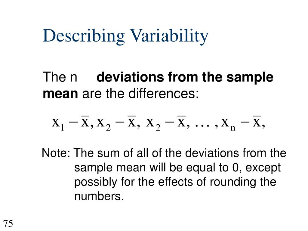 Describing Variability