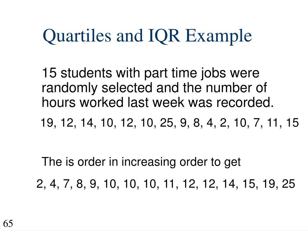 Quartiles and IQR Example
