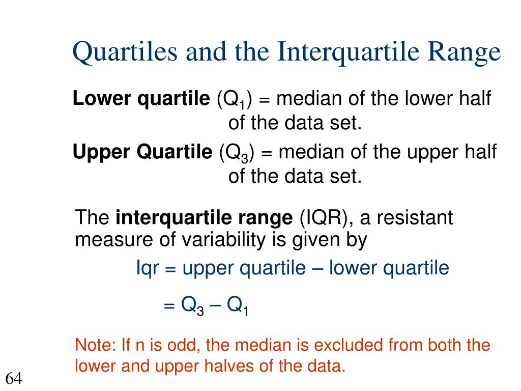 Quartiles and the Interquartile Range