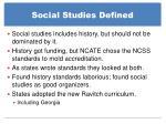 social studies defined