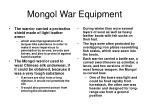 mongol war equipment