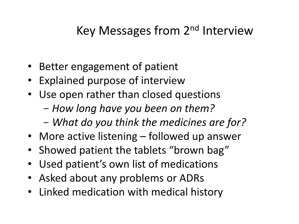 Key Messages from 2
