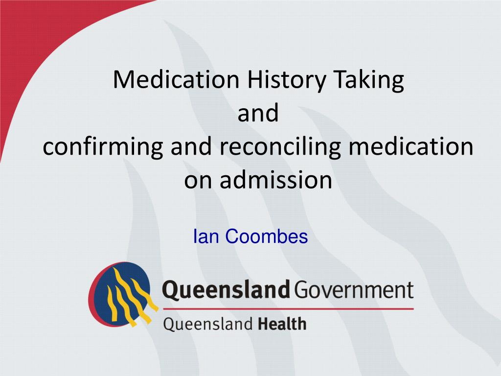Medication History Taking