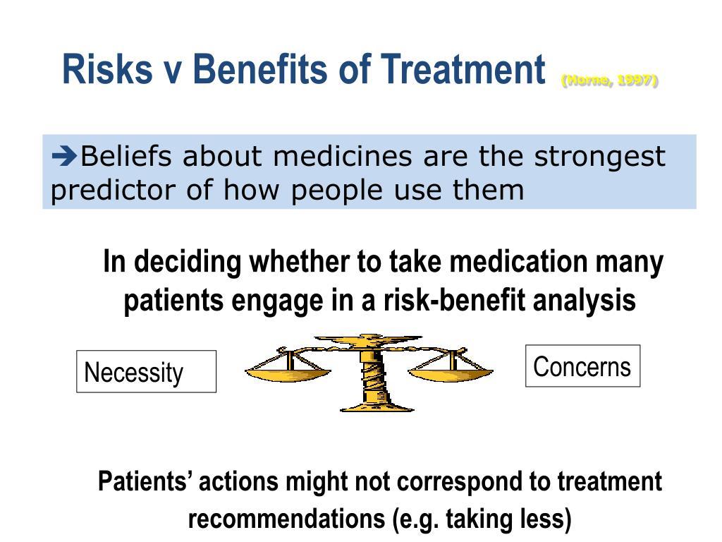 Risks v Benefits of Treatment