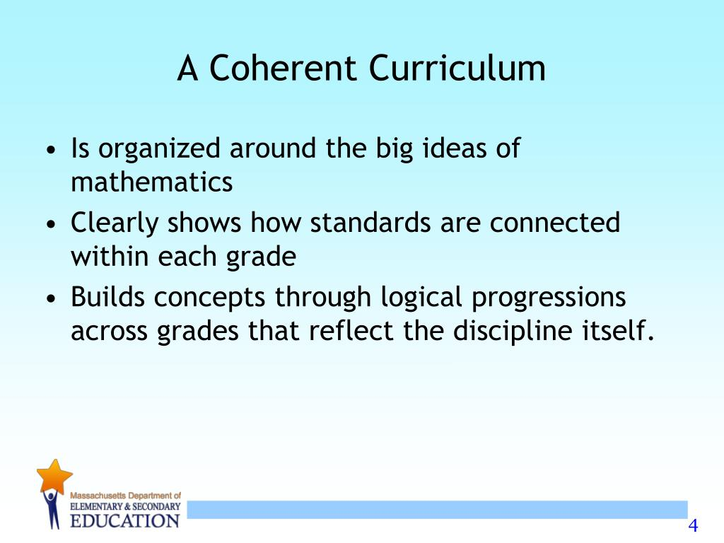 A Coherent Curriculum