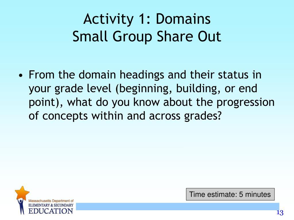 Activity 1: Domains